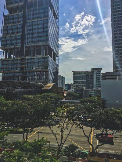 The Architect - 2016 EyeEm Awards Road Junction Singapore Sun Sky Blue