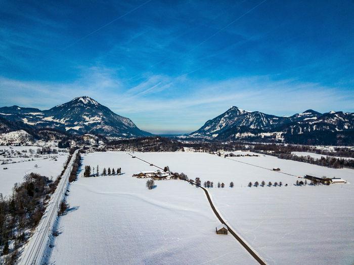 Bavarian alpine upland in winter