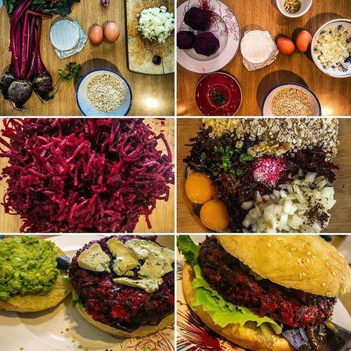 Hamburguesa Casera de Remolacha y queso de cabra Veg Vegetarian Receta
