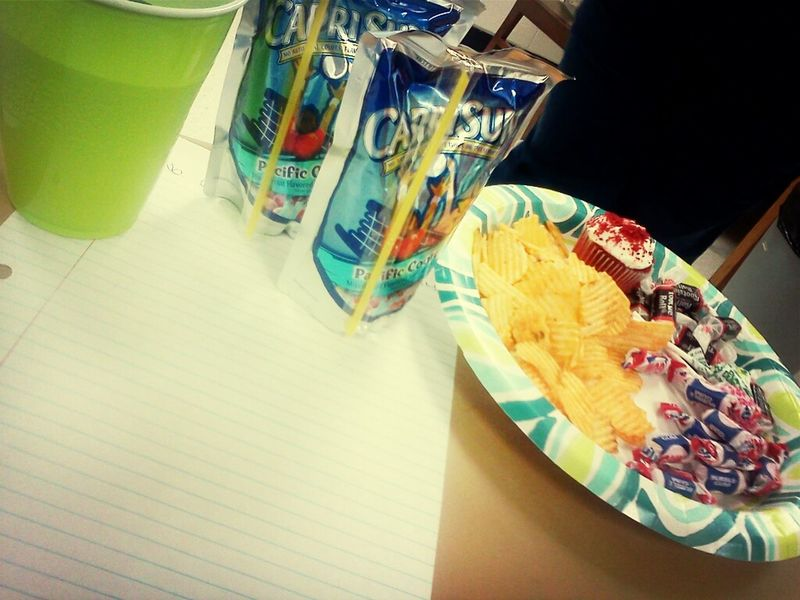 snacked up in class