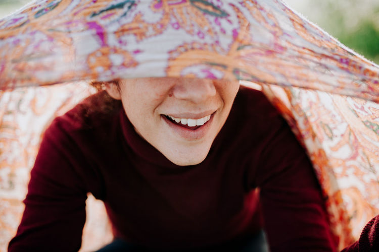 Smiling Smile Smile ✌ Portrait Portrait Of A Woman One Person Happiness Emotion Front View Adult Headshot Protection Teeth Toothy Smile Focus On Foreground Casual Clothing Day Close-up Mid Adult Clothing Waist Up Mouth Open Hairstyle Pattern Floral Pattern My Best Photo