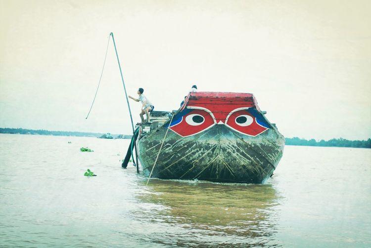 Mekong Delta River Ship Face