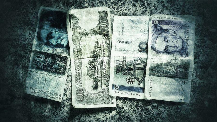 Dm Finance DDR DDR-Relikt Ddr Geld Geld Blau Scheine