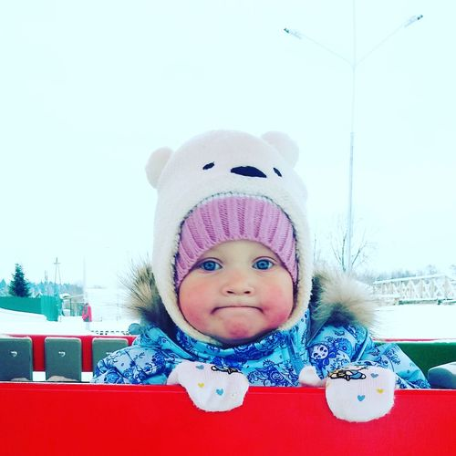 Looking At Camera Baby Portrait Childhood One Person Headshot Smiling Babyhood People Babies Only Day Kids Winter First Eyeem Photo