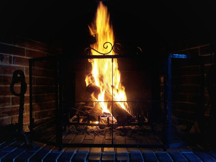 Cosy by the fire ...