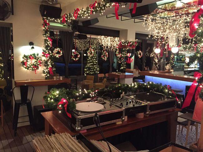 Bar Celebration Christmas Christmas Christmas Decoration Christmas Tree Day Disco Bar Gift Indoors  Light No People Pub