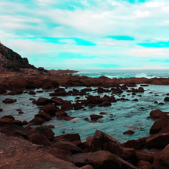 Beach Beauty In Nature Cloud - Sky Day Environment Land Nature No People Non-urban Scene Outdoors Rock Rock - Object Rock Formation Rocky Coastline Scenics - Nature Sea Sky Solid Tranquil Scene Tranquility Water
