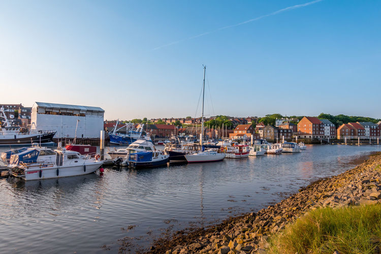 Whitby Whitby Harbour Whitby View Whitby North Yorkshire North Yorkshire Fishing Boat Harbour Harbour View Nautical Vessel River Esk Marina Yacht Sailboat Passenger Craft Moored Mooring Water Sky Sea Harbor Mast Clear Sky No People Fishing Industry Day