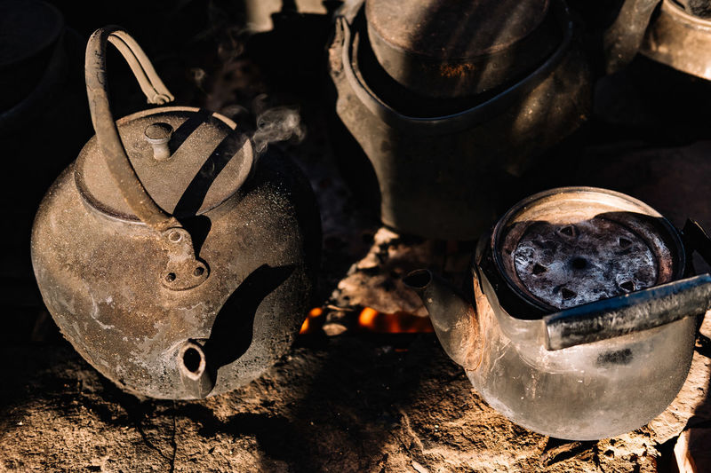 kettle place Abyaneh, Iran Cooking Kashan Kettle Red Village Abandoned Archaeological Sites Close-up Equipment Fire Place High Angle View Historical Place History Irantravel Metal Old Outdoor Cooking Persia Reddish Still Life Traditional The Still Life Photographer - 2018 EyeEm Awards