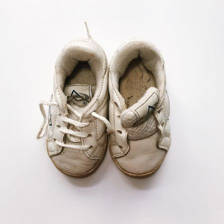 Childhood Reebok Classic  Pair Shoe No People White Background Close-up Things That Go Together Day Outdoors Reebook Baby Sneakers VSCO IPhoneography Composition Tennis Together Childhood Memory IPhone 7 Iphone 6 IPhone 6s Cream Vintage Cozy