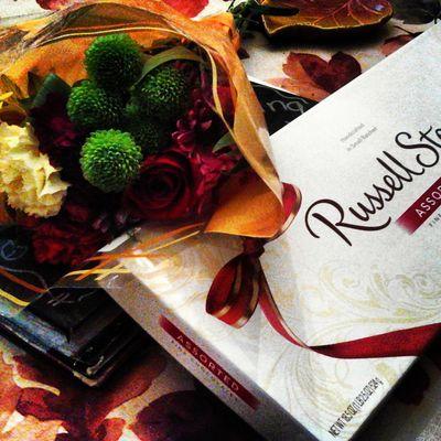 What my boyfriend got me a while ago. <3 Flowers Chocolates