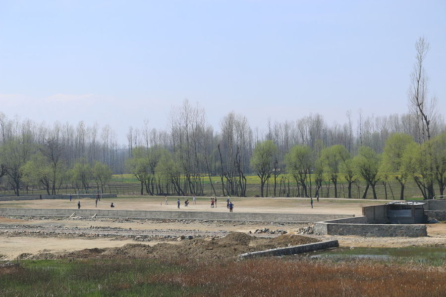 Kashmir Sunday Cricket Field Cricketmatch Beauty In Nature Tree Nature Sky Growth Outdoors Tranquility Day People EyeEm Nature Lover EyeEmNewHere