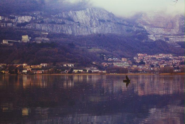 Italy Lake Lago Di Pusiano