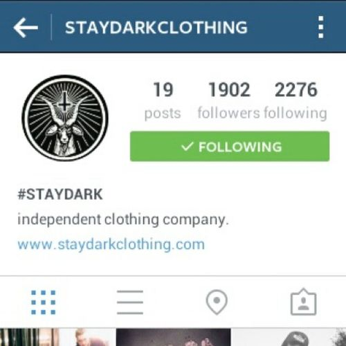 Follow @staydarkclothing cuz you have too also their t-shirts and jumpers are good aswell so go check out their page Peace Staydark