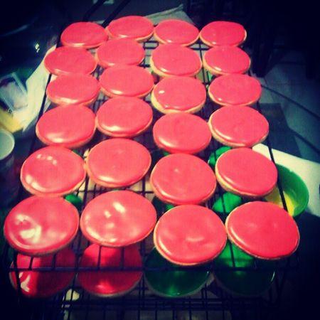 Helping my sister bake cookies. Godsister Homebakery Guahan Cookiemonster