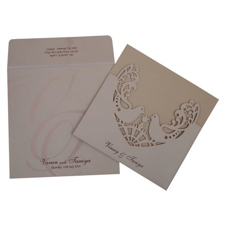 123WeddingCards Laser Cut Wedding Invitation Design Laser Cut Theme Invitations Laser Cutting Wedding Invites Love Birds Theme Laser Cut Invitation Laser Cut Wedding Invitations