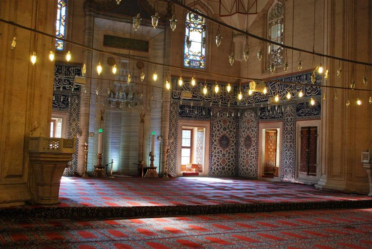 Architecture Built Structure Illuminated Building Building Exterior No People Lighting Equipment Window Night Entrance History Door Decoration The Past Pattern Residential District Old Absence Ornate Luxury Electric Lamp Islam Islamic Architecture Selimiye Selimiyecamii Selimiye Mosque