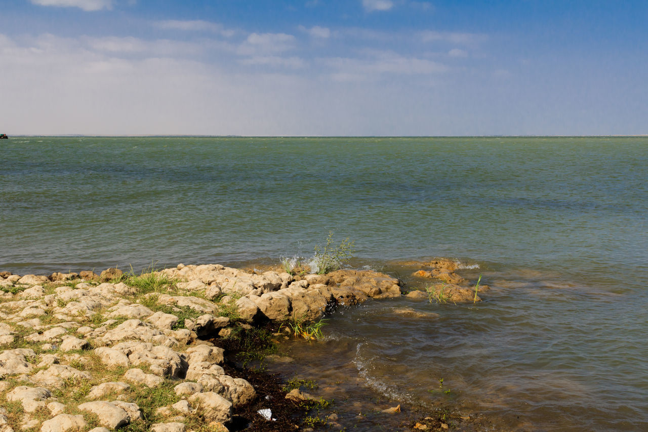 sea, nature, water, scenics, tranquil scene, tranquility, beauty in nature, horizon over water, sky, outdoors, day, no people