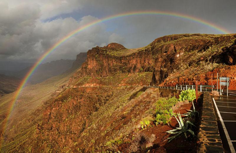 Nikon D810, Nikon 24-70mm f 2,8 ED Atlantic Canary Islands Gran Canaria Holiday Holidays Landmark Landscape Mountain Natural Park Pilancones Pilancones Protected Area Rainbow SPAIN Sunset Tenerife Travel Travel Photography Vacation