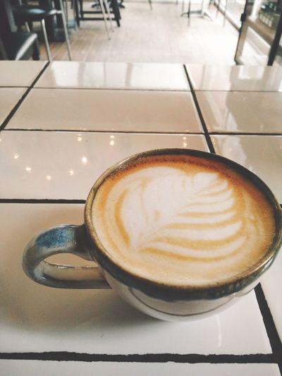 Coffee Enjoying Life Relaxing Coffee Shop Latteart