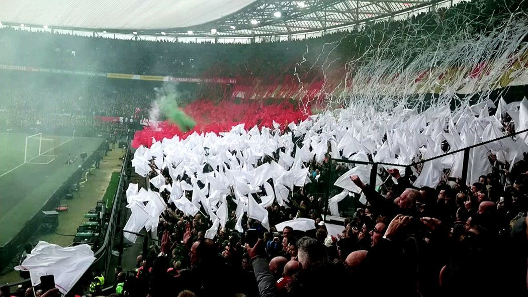 Feyenoord Rotterdam Feyenoord Stadium Feyenoord Legion! Large Group Of People Cheering Soccer Stadium Soccer Fans Celebration People Fan - Enthusiast Outdoors (c) 2017 Shangita Bose All Rights Reserved Rotterdam Netherlands Soccer Match - Sport Togetherness Stadium Sport Human Hand Arms Raised Crowd Love The Game