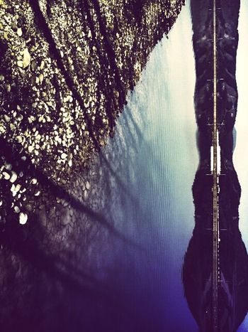 Abstract Landscape Riverbank Riverscape Pebbles Rotated Landscape Reflecting In Mirror Landscape Learn & Shoot: Balancing Elements Tree Shadows Calm Calm Water Horizontal Line Dam
