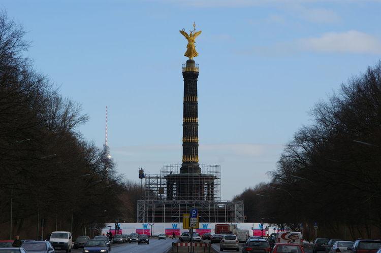 Berlin Blue Sky Denkmal Deutschland Famous Place Germany Memorial Monument Siegessäule  Statue