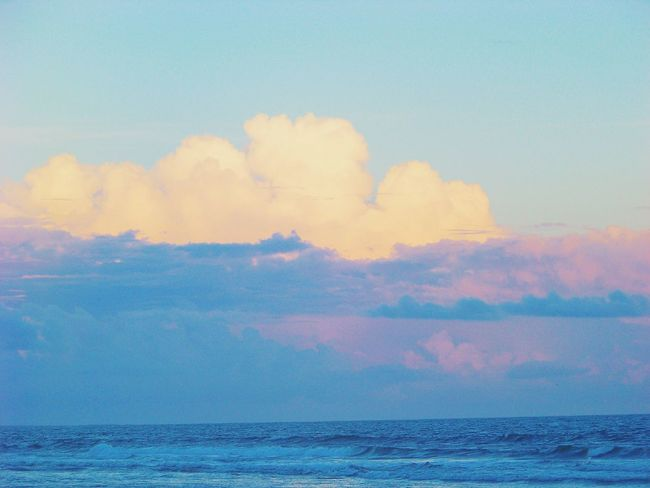 Nature Sea Sky No People Ocean Waves Horizon Over Water Beauty In Nature Vibrant Colors Lifeisbeautiful Sunrise Storm Cloud