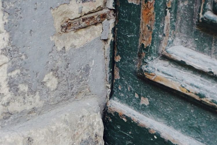 European City of Culture 2018 Green Architecture Close-up Doorframe Doorway Flaking Paint No People Outdoors Wood - Material