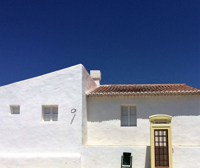 Architecture Building Exterior Built Structure Cacela Velha Portugal CacelaVelha Clear Sky Day House Low Angle View No People Outdoors Residential Building Science Sky Telephone