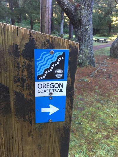 Take a hike! Oregon Oregon Coast Oregon Coast Trail Hike Outdoors Adventure Hiking Nature No People Sign
