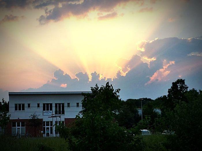 Sunset Sharpen Hanover Clouds Moment