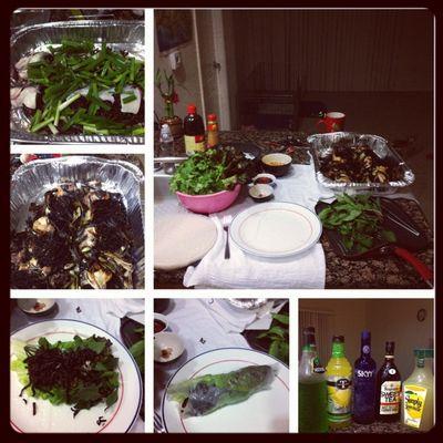 Gahhhh dinner!!! Made catfish spring rolls!! Yum!! Springrolls Picframe