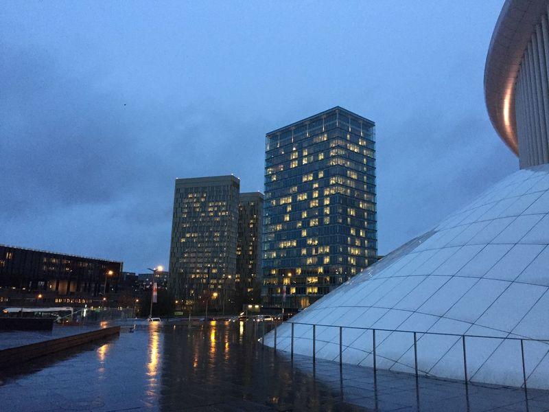 November mood in the city Luxembourg Kirchberg Highrise Rain Rainy Days November Luxembourg Streetphotography Luxembourgcity
