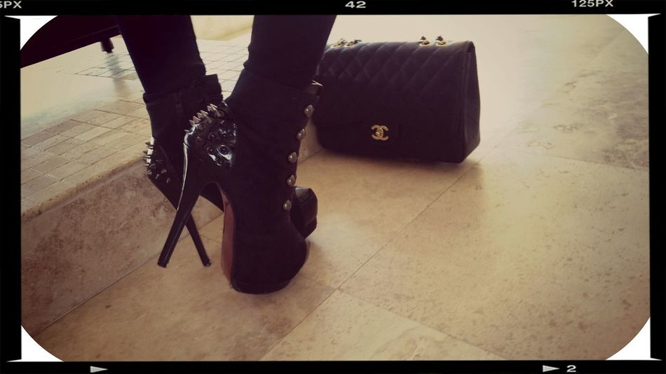The higher the heel, the closer you are to heaven❤ High Heels Coco Chanel RedBottoms  Black