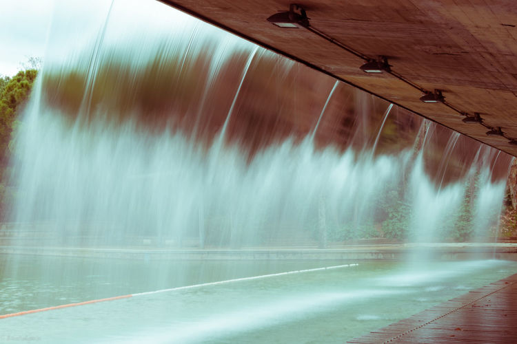 Water Architecture Built Structure Long Exposure Flowing Water Flowing Waterfall Streetphotography Atreet Sabadell Streets (Catalonia) Sabadell, Catalonia