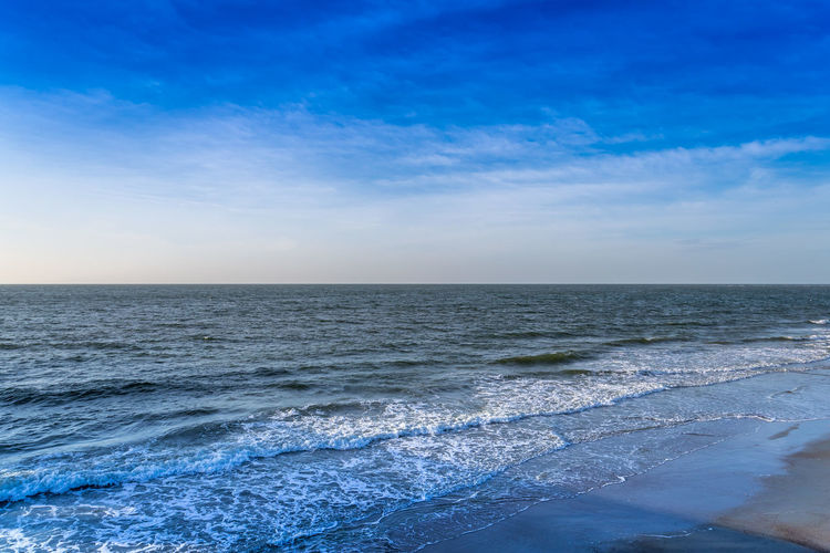 Blue Sky & Waves Beach Beauty In Nature Blue Day Horizon Over Water Idyllic Nature No People Outdoors Scenics Sea Sky Tranquil Scene Tranquility Water Wave