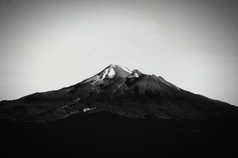 Black And White Landscape Mountain Mount Shasta