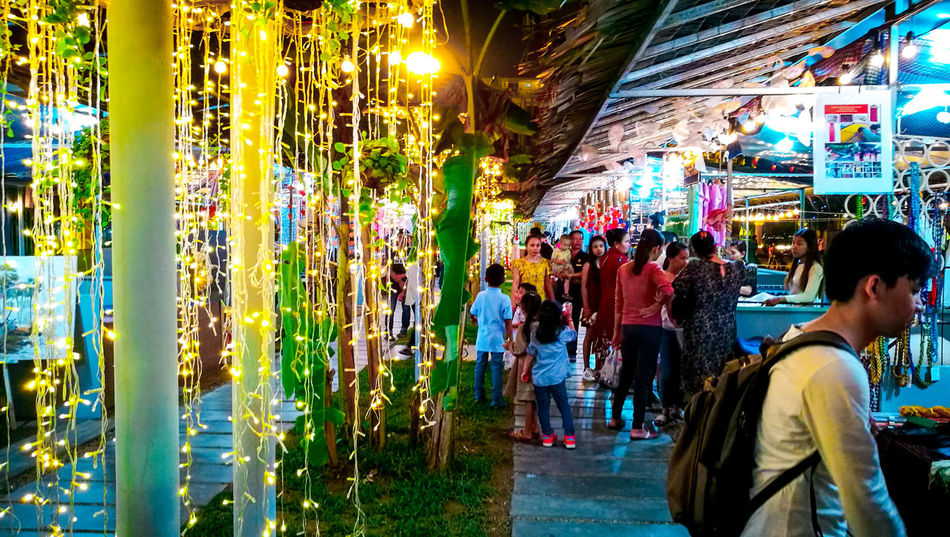 City Men Crowd Women Multi Colored Market Retail  Architecture
