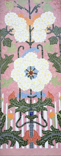 Pattern No People Multi Colored Outdoors Architecture Day Decorative Floral Pink Mosaic Art Millennial Pink