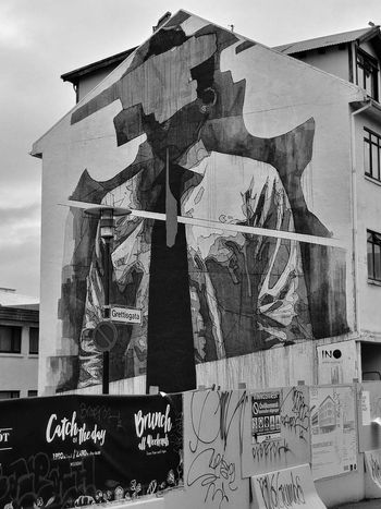 Reykjavik Travel Destinations Icelandic_explorer Building Exterior Architecture No People Built Structure Outdoors Spray Sprayart Spray Paint Spraying Graffiti Reykjavikstreetart