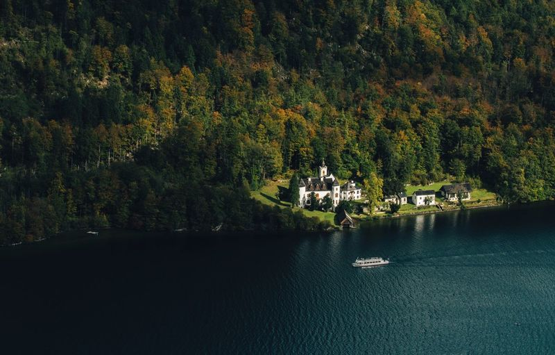 Austria Autumn Colors Castle Fall Colors Autumn Beauty In Nature Forest Lake Mountain Nature Nature_collection Nature_perfection Naturelovers Nautical Vessel Outdoors Scenics Season  Tranquil Scene Tranquility Tree Water