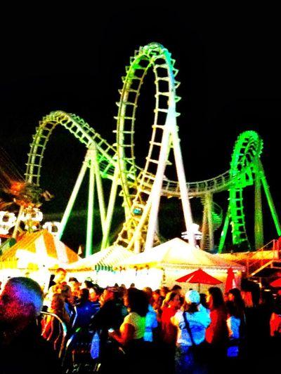 Carousel Multi Colored Black Background Amusement Park Ride Ferris Wheel Arts Culture And Entertainment Amusement Park Illuminated Fun Rollercoaster