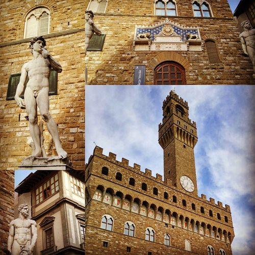 베키오궁. 그리고 다비드상. 거장 미켈란젤로의 흔적은 정말 많은 곳에서 볼수 있구나.. PalazzoVecchio Piazzadelsignoria