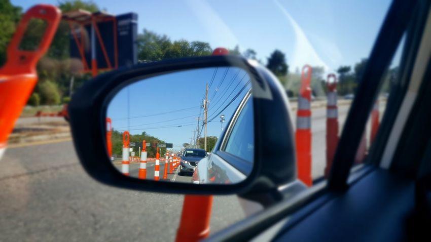 The Drive Transportation Land Vehicle Car Mode Of Transport Traffic Cones Close-up EyeEm Foxborough, Massachusetts S6