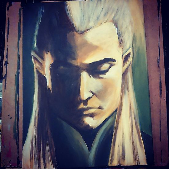 Painted Legolas for my stall at the art show on saturday! Lord Of The Rings Check This Out Painting Art, Drawing, Creativity ArtWork Artist Legolas Nerdy Geek Fantasy