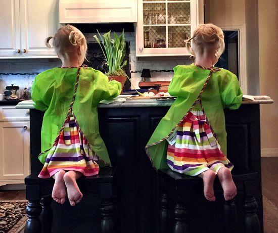 Kids Children Art Painting Finger Painting Toddler  Twins Girls Creative Horizontal