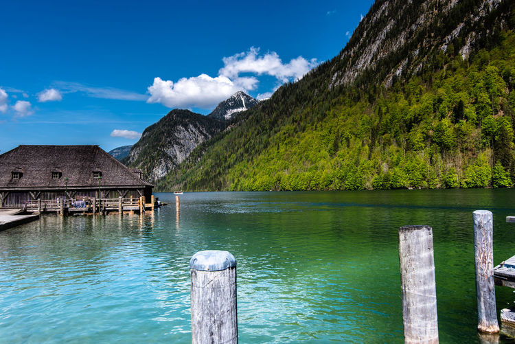Schönau am Königssee Schönau Am Königsee Germany Deutschland Alps Alpen Stay Out Water Tree Mountain Lake Sky Architecture Stilt House Boat Hut Pier Dock Harbor Lagoon Port