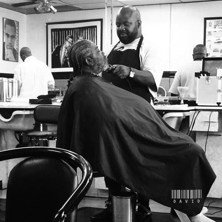 That time Barber Shop Haircut Black And White Candid