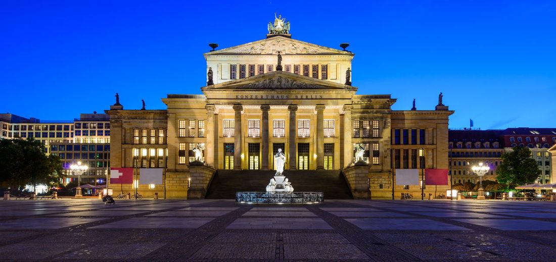 The Konzerthaus in Berlin, Germany, at night Architecture Berlin Berlin Mitte Blue Hour Deutschland Konzerthaus Berlin Concert Hall  Gendarmenmarkt Germany Konzerthaus Night